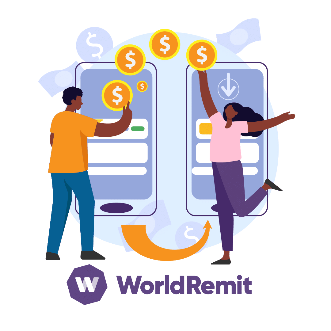 Send money with WorldRemit app
